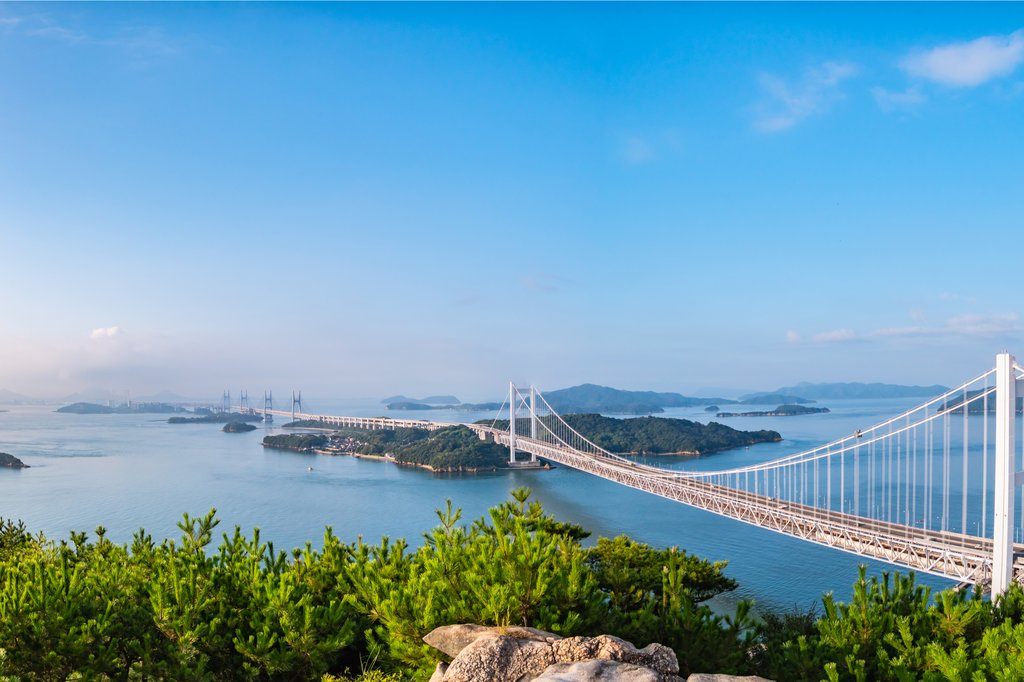 Great Seto Bridge as Seen from Mount Washuzan, Photo Courtesy of Okimo/Shutterstock