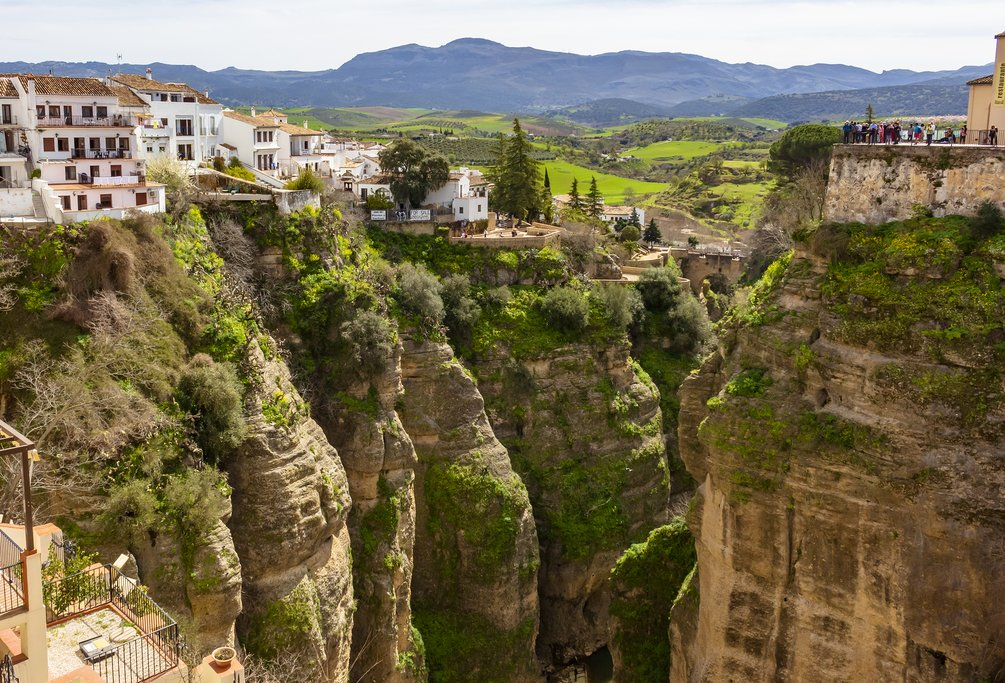 Panoramic view of Ronda's gorge