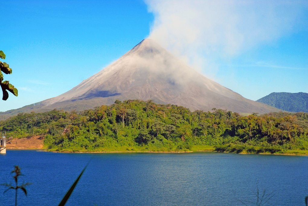 This morning you'll cross Lake Arenal