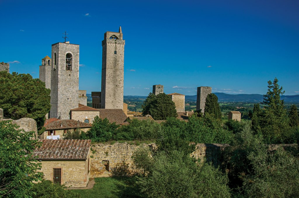 View of San Gimignano's Medieval Towers