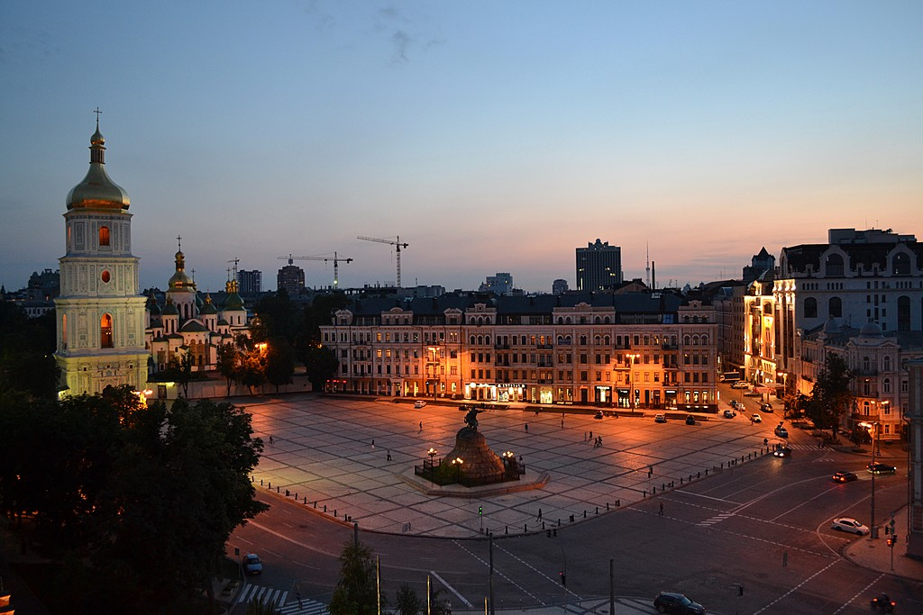 Kyiv at night