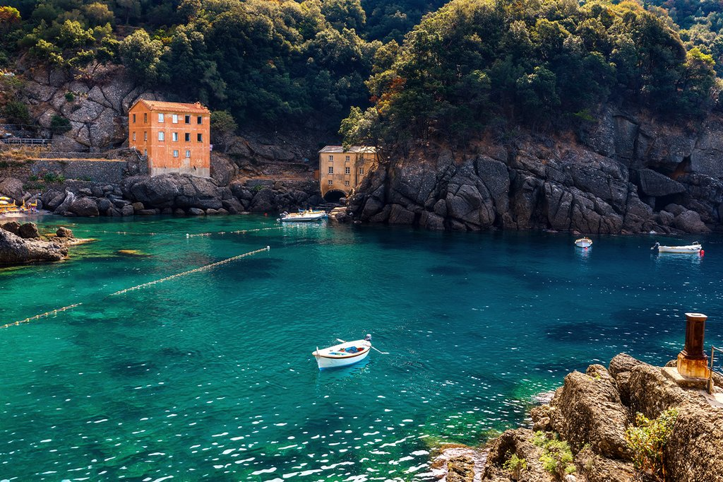 Small bay in San Fruttuoso