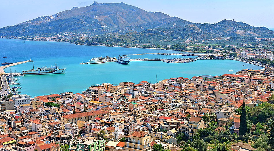 Zakynthos town and harbor