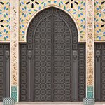Detailing of the Hassan II Mosque