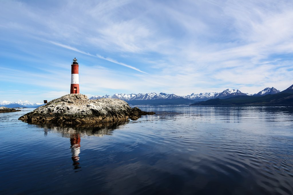 The famous Les Eclaireurs Lighthouse, on the Beagle Channel
