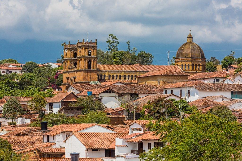 The skyline of Barichara in the Santander region