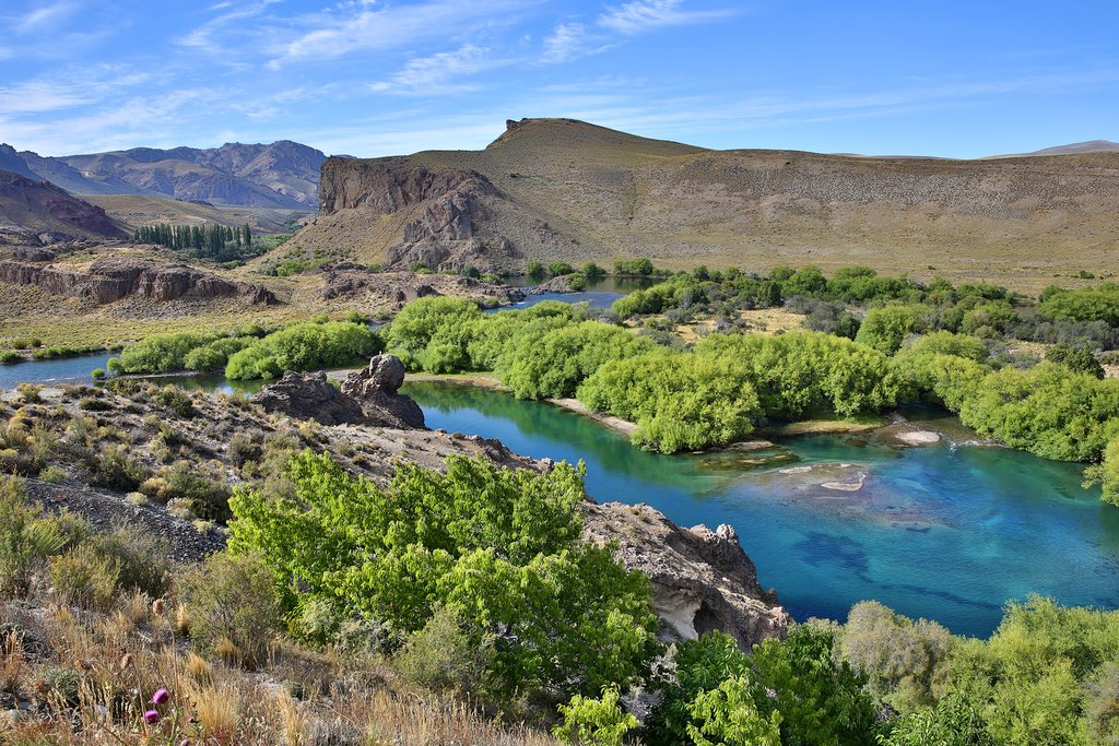 Limay river is a popular spot for fly-fishing