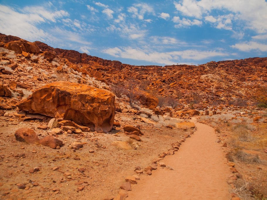 Dry landscapes in Twyfelfontein
