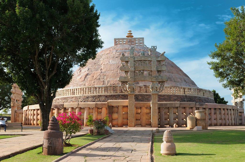 Ancient Buddhist Sanchi Stupa in Madhya Pradesh