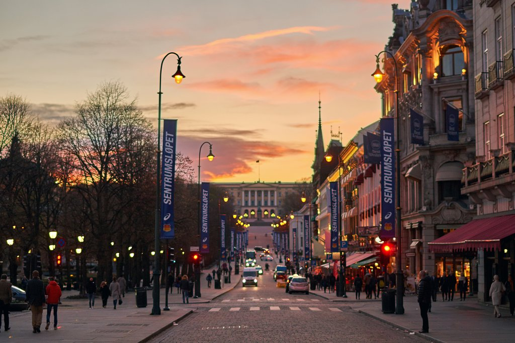 A sunset in Norway's capital