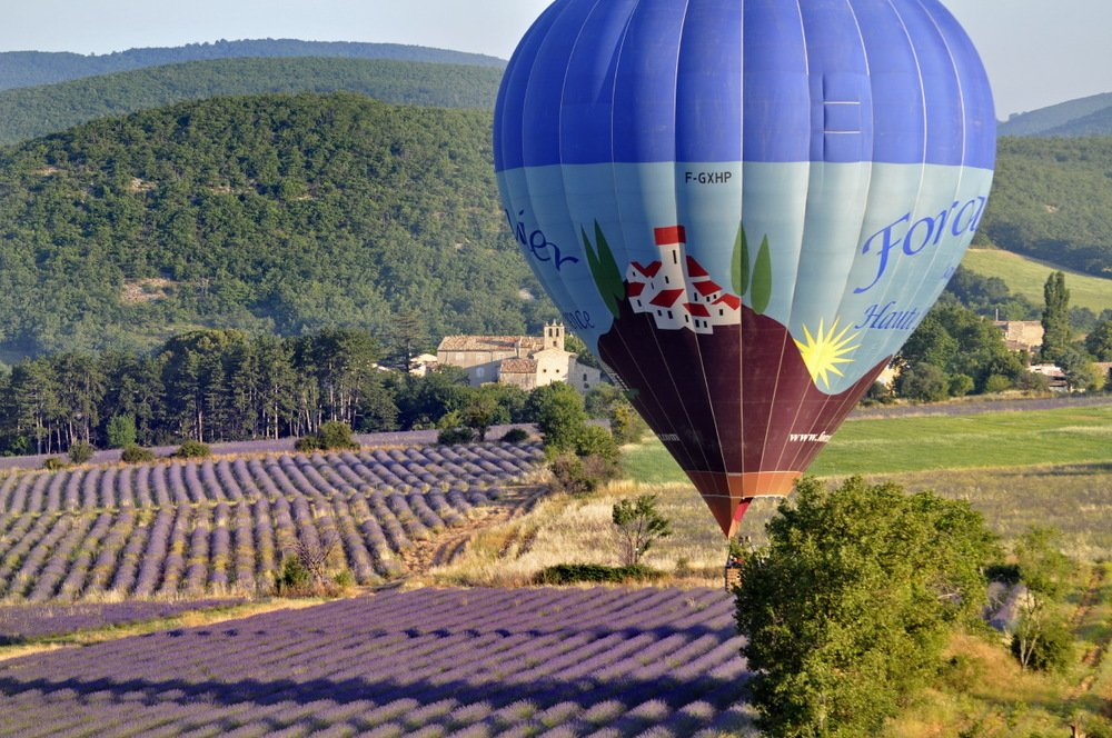 Hot air balloon in Haute Provence