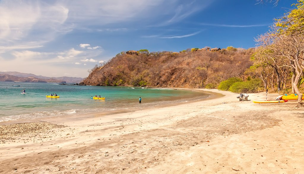The Guanacaste region on the Pacific Coast is known for its arid landscapes and long beaches