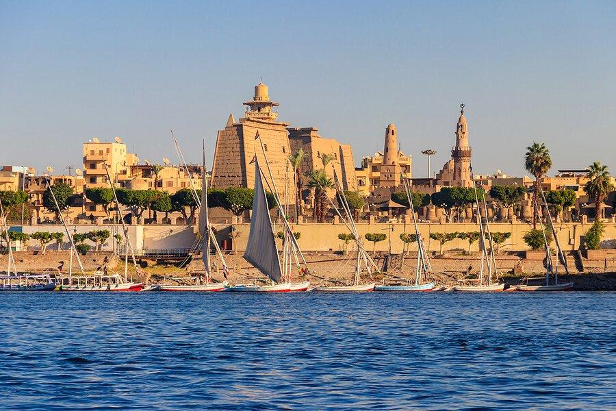 A cruise ship on The Nile near Luxor