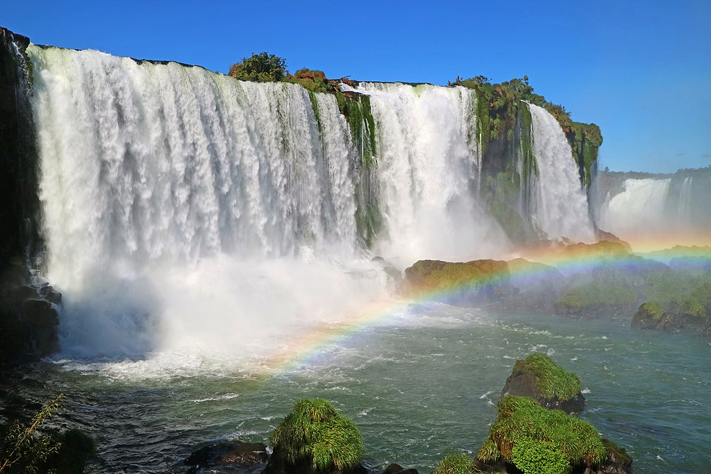 View of Iguazu Falls from Brazil