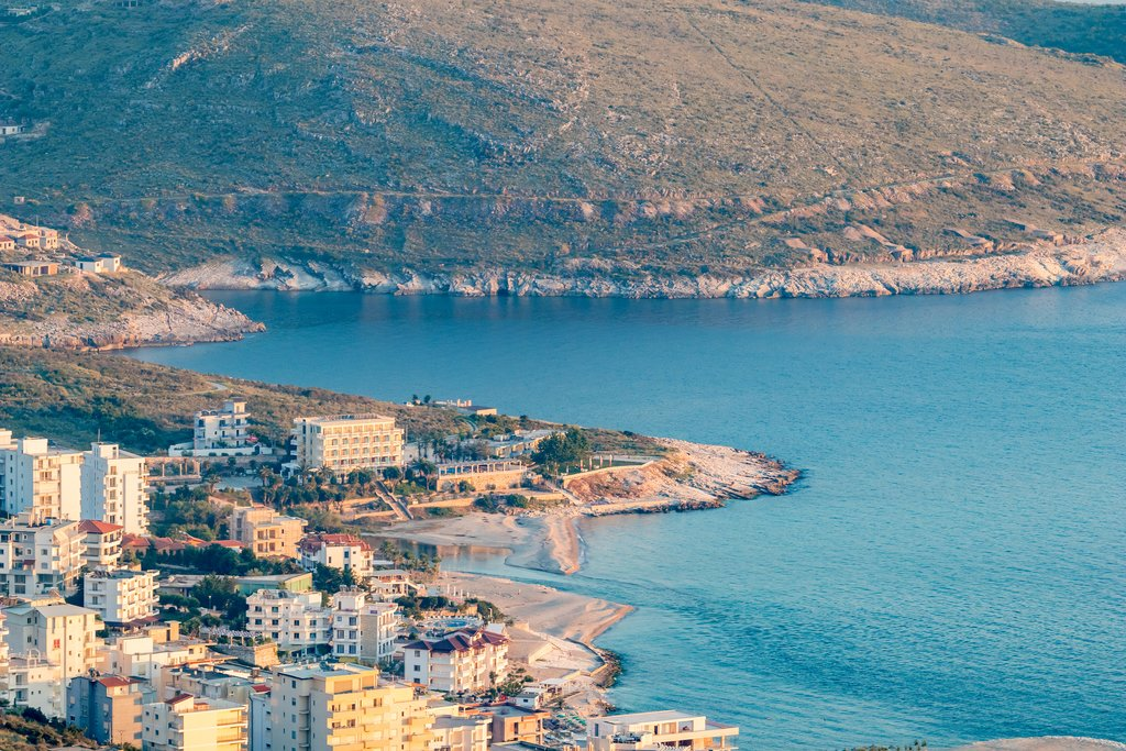 Adriatic Sea Coastline in Saranda