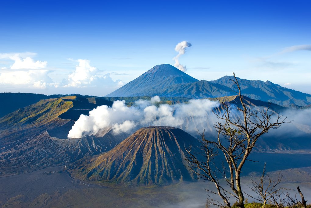 Take a jeep ride up to the top of Mount Bromo to see these epic views