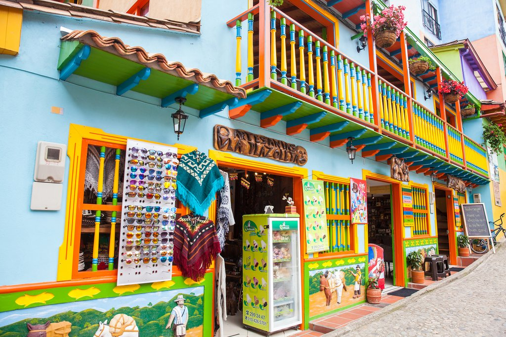 The colorful town of Guatapé