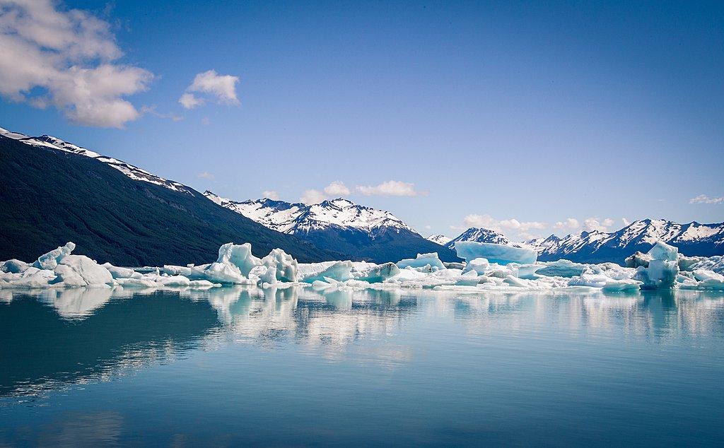 Icebergs on a lake in El Calafate