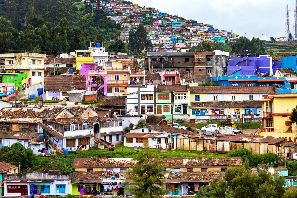 The colorful houses of Ooty