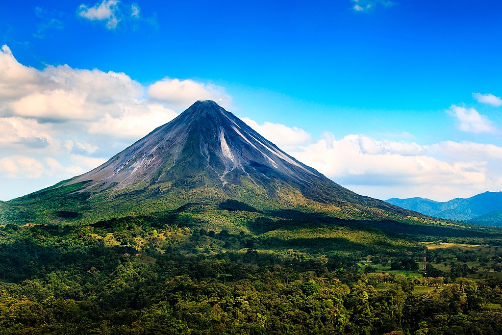 Arenal Volcano rising out of the jungle