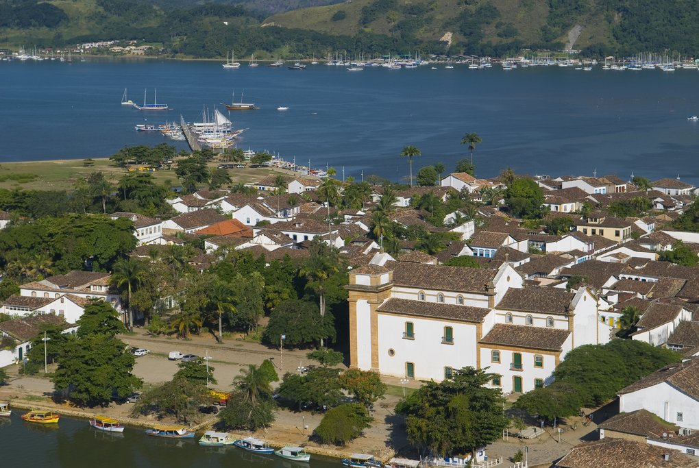 View of historic Paraty