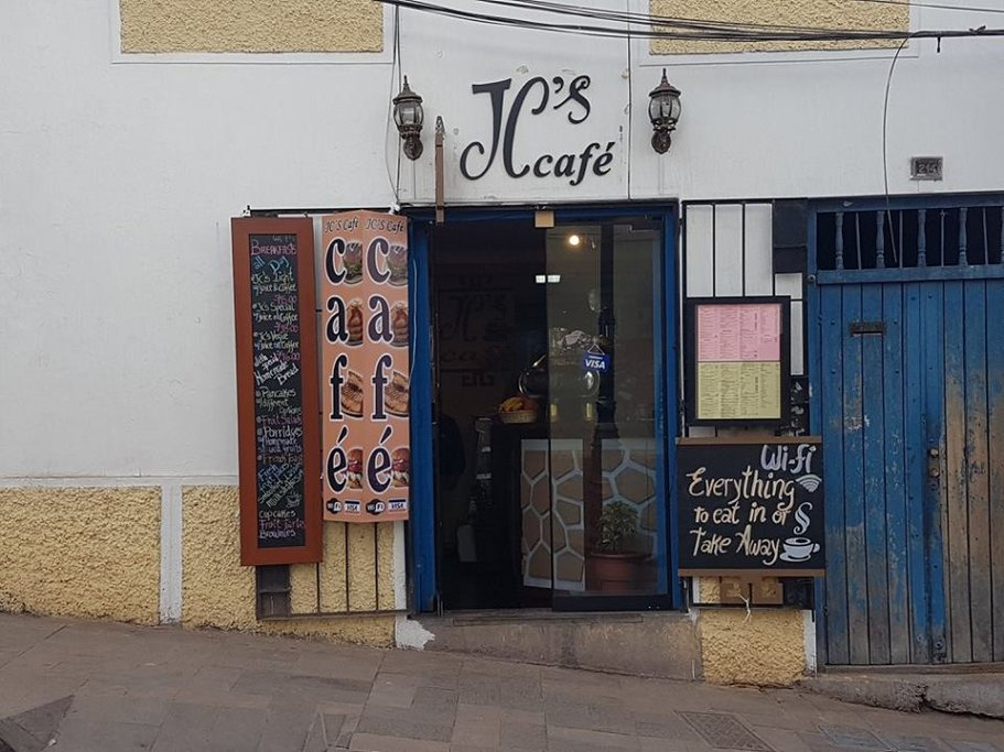 JC's Cafe serves the best coffee in Cusco
