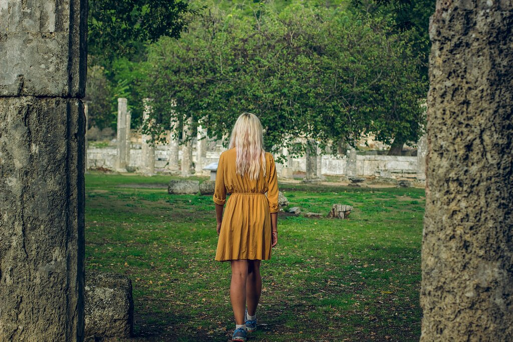Exploring the ruins of Olympia