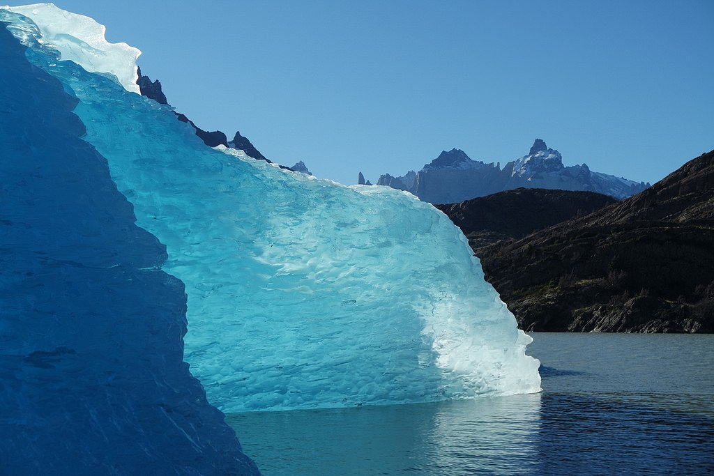 The glacier that feeds Grey Lake