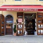 Shopfront selling Brunello di Montalcino
