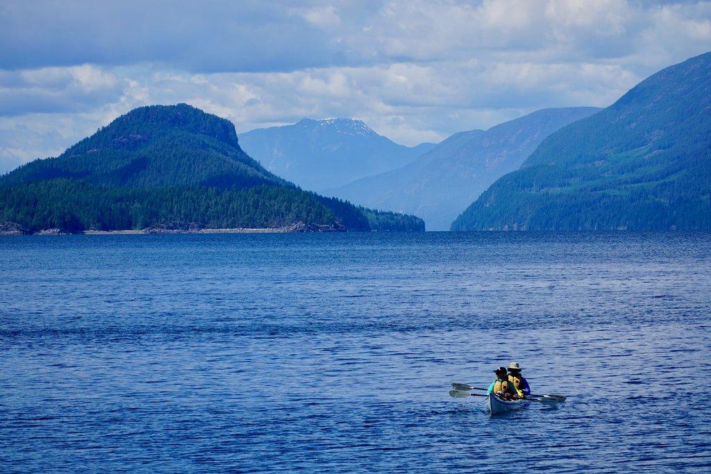 Sea kayaking in Desolation Sound