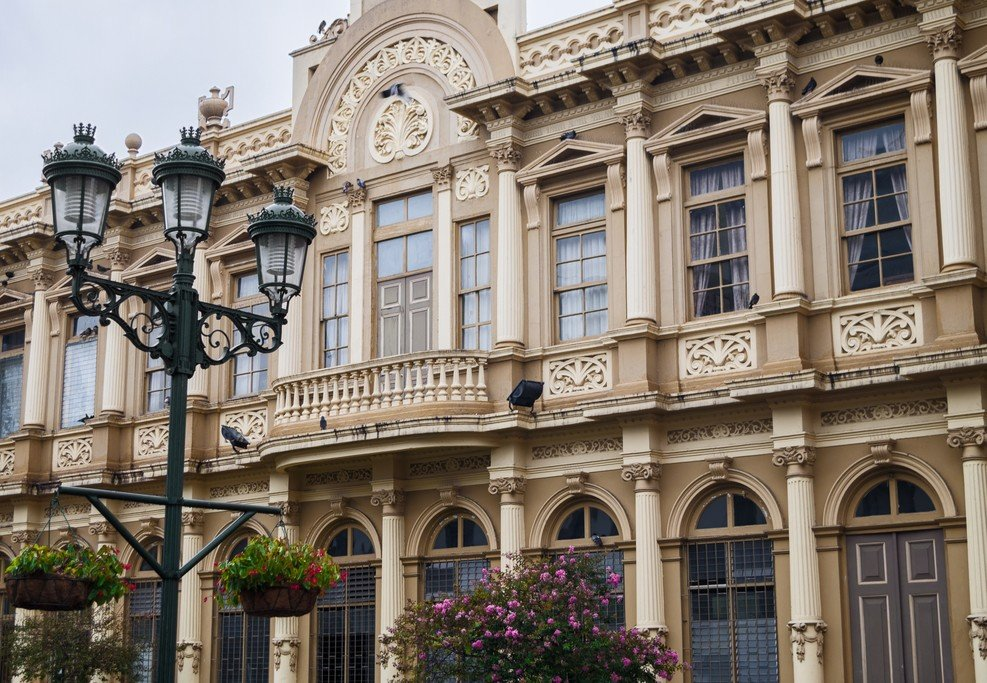 The Edificio Correos (Post Office) in the city's center