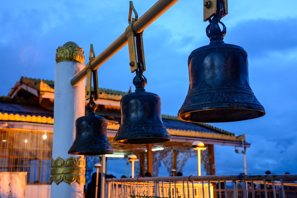 Copper bells in Taung Kwe Pagoda, Loikaw