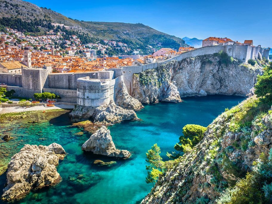 Town and Coastline of Dubrovnik