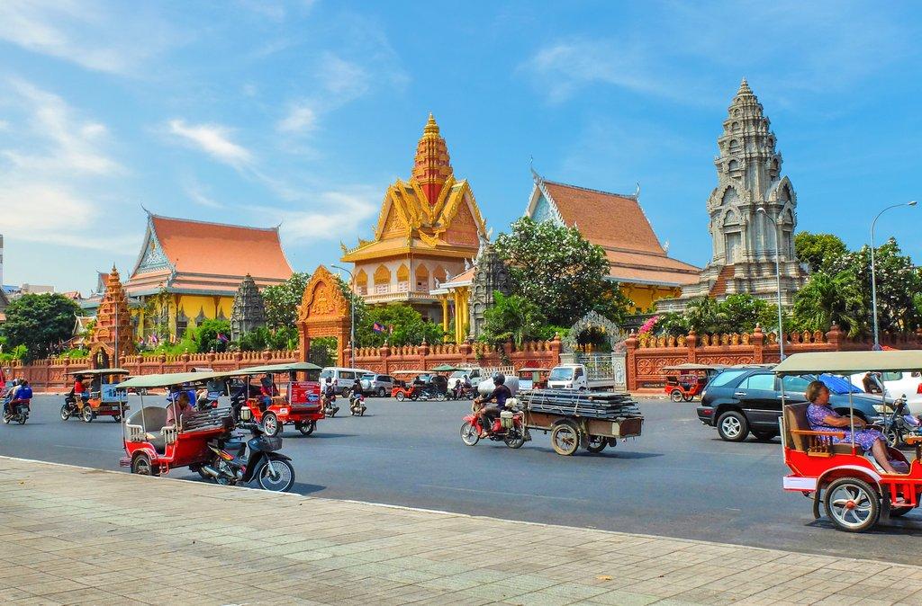 Make your way to Cambodia's vibrant capital, Phnom Penh