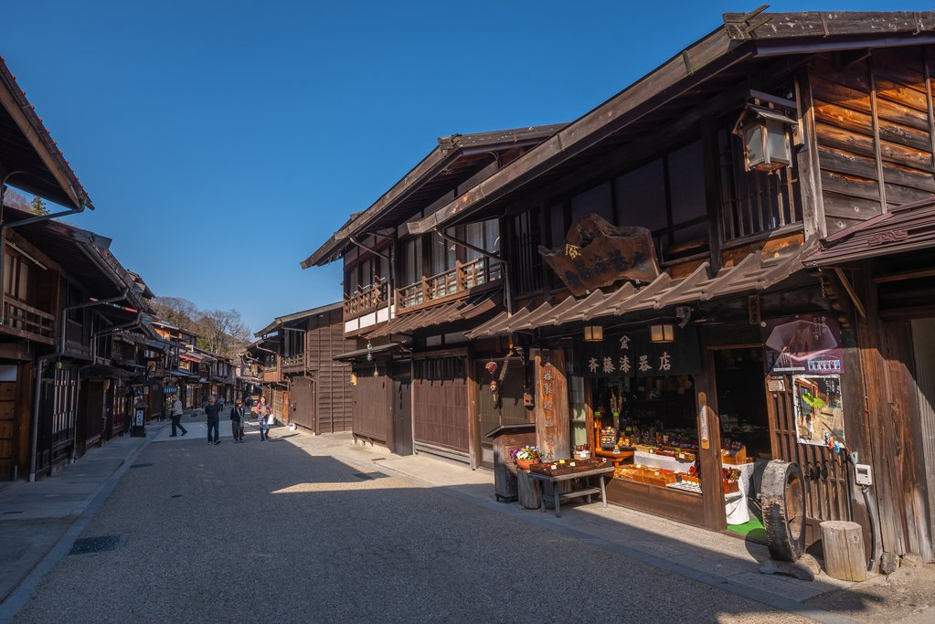 Narai Post Town in the Kiso Valley, Japan