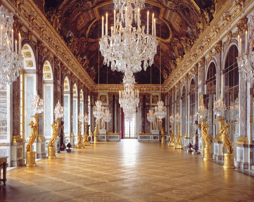 Walk through the Hall of Mirrors in Versailles