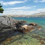 Cavtat Peninsula shore looking north