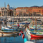 Colorful Port Lympia in Nice
