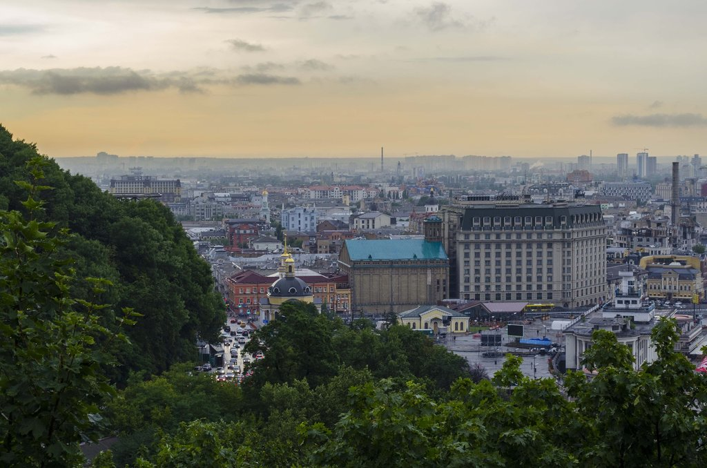 View from the Podil neighborhood