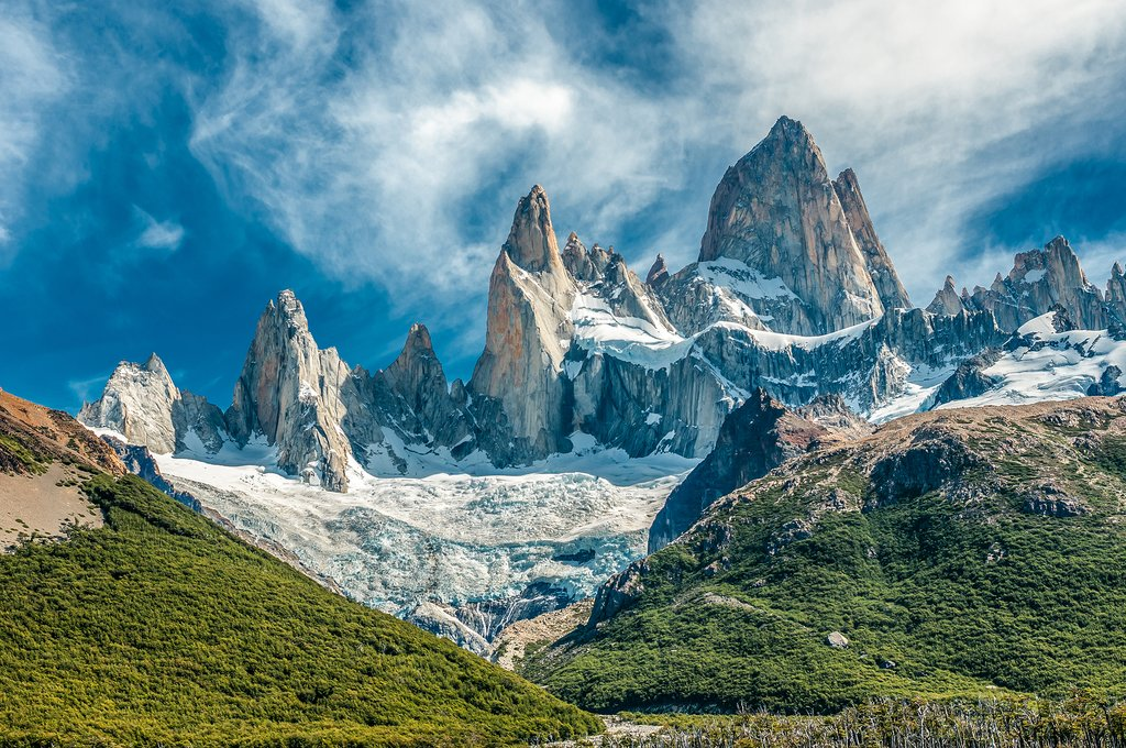 Up-close vistas of Mount Fitz Roy