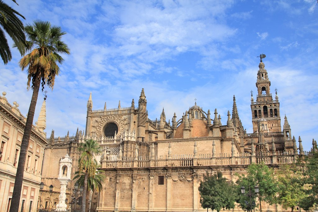 The Seville Cathedral is the largest gothic church in the world
