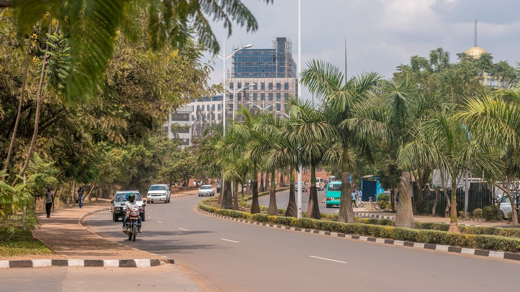 Kigali's wide streets and beautiful landscaping