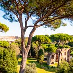 Ruins of the Aqueduct of Claudius on Palatine Hill