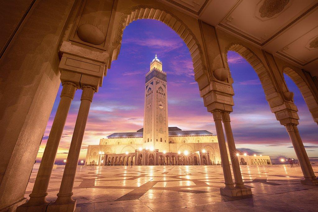 Casablanca, Hassan II Mosque at Night