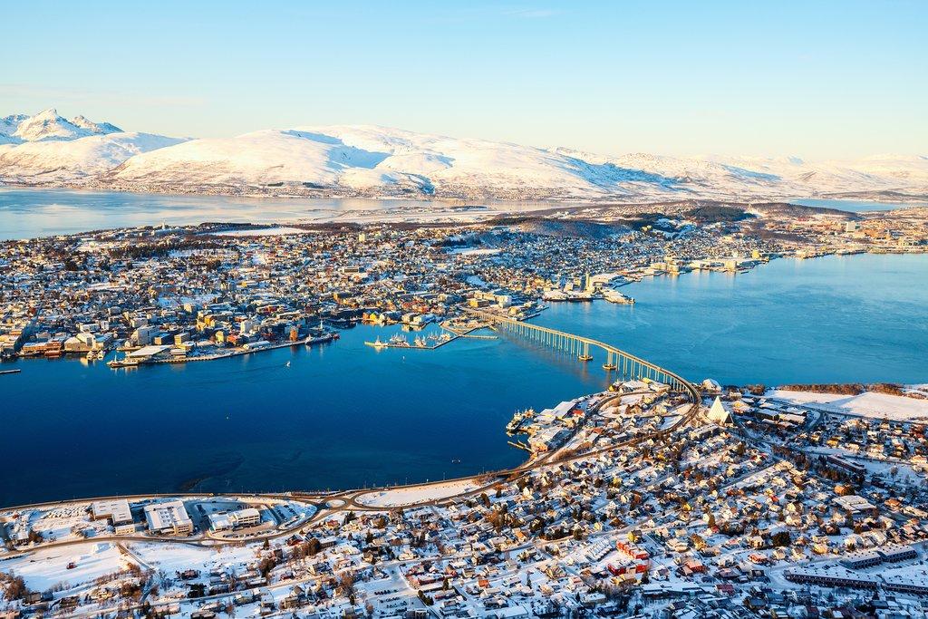 Aerial view of Tromsø