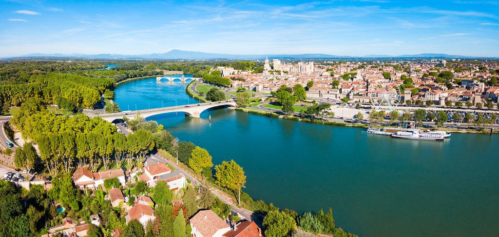 Avignon on the Rhone River
