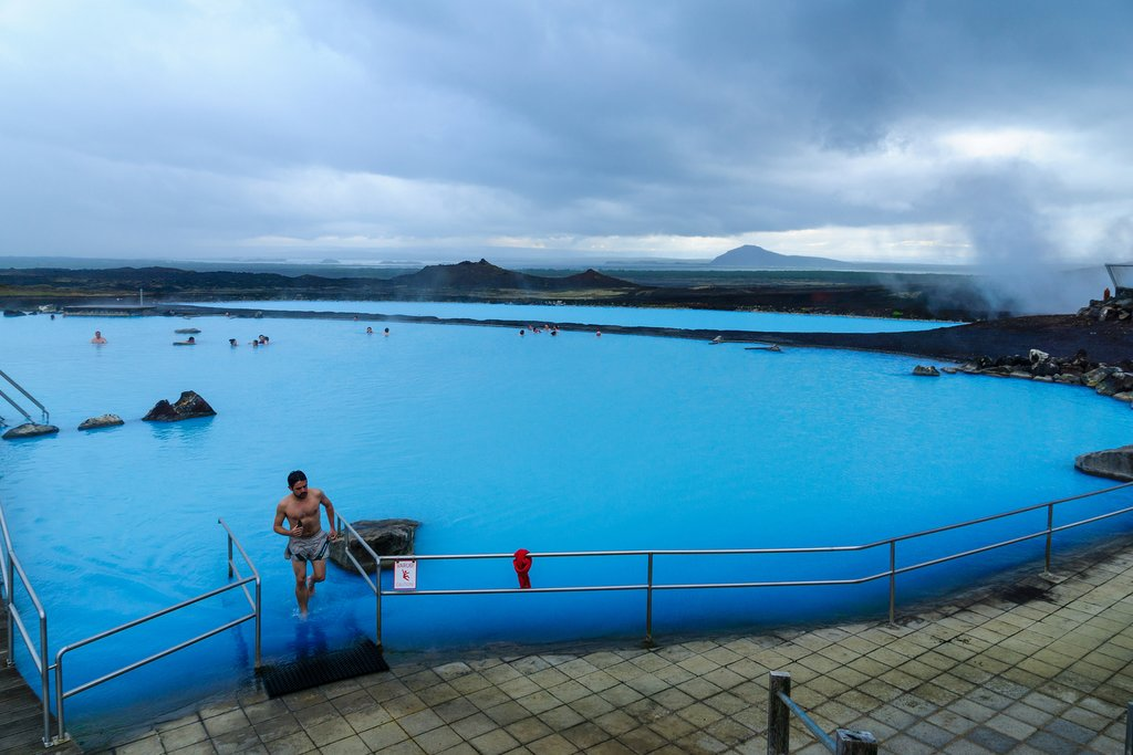 The Myvatn Nature Baths is a less crowded alternative to the Blue Lagoon
