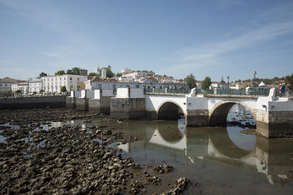 Bridge Ponte Romana in the old town of Tavira, Portugal