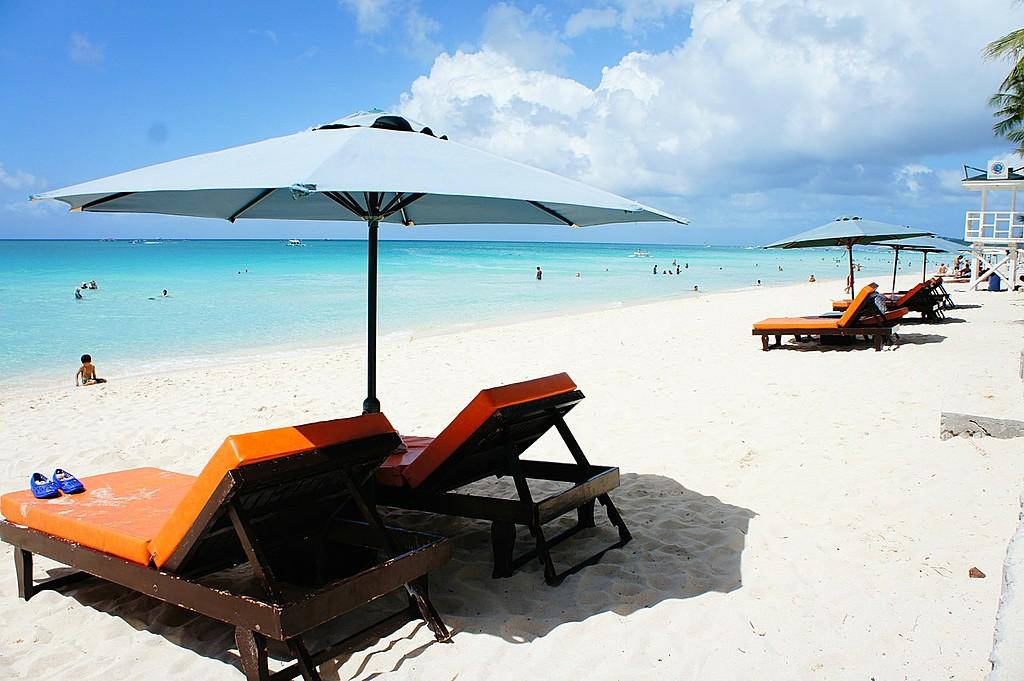 Enjoy the fine white sand of Boracay's beaches