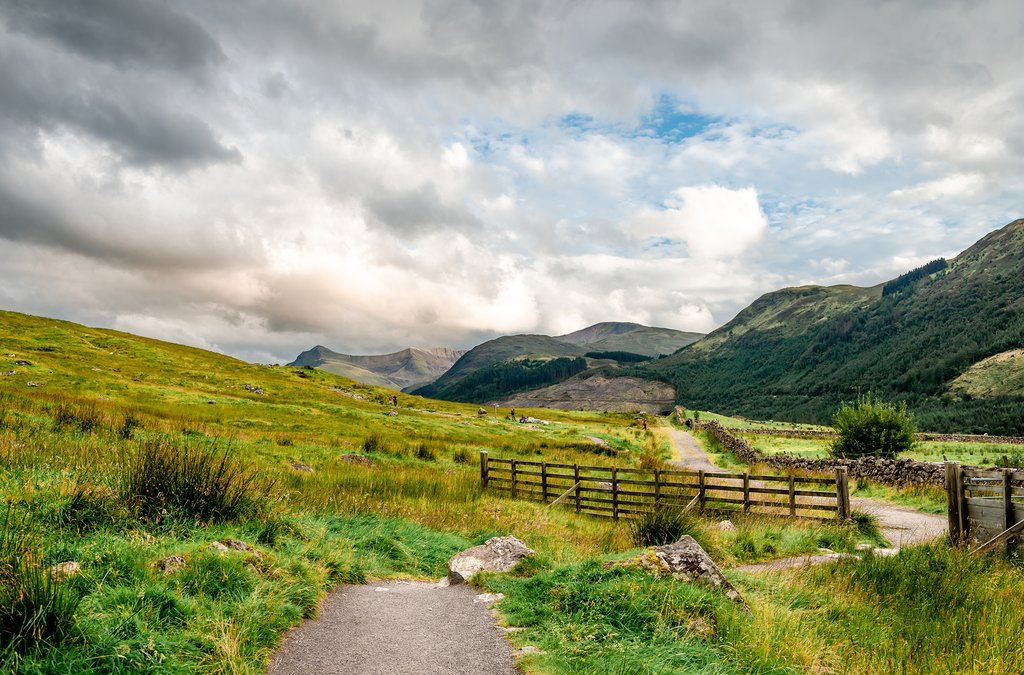 The trail to Ben Nevis, just outside Fort William.
